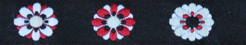 Fleur schwarz-rot