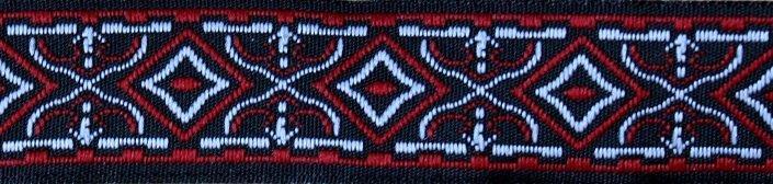 Waldelf rot-schwarz-silber