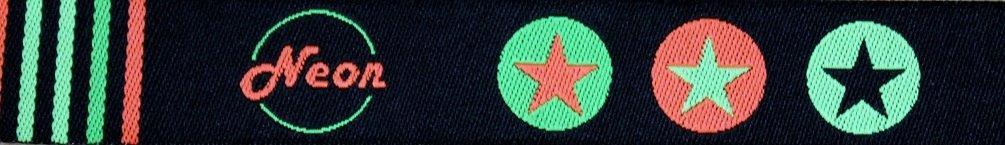 Neon-Stars schwarz-grün-orange