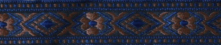 Borte blau-braun