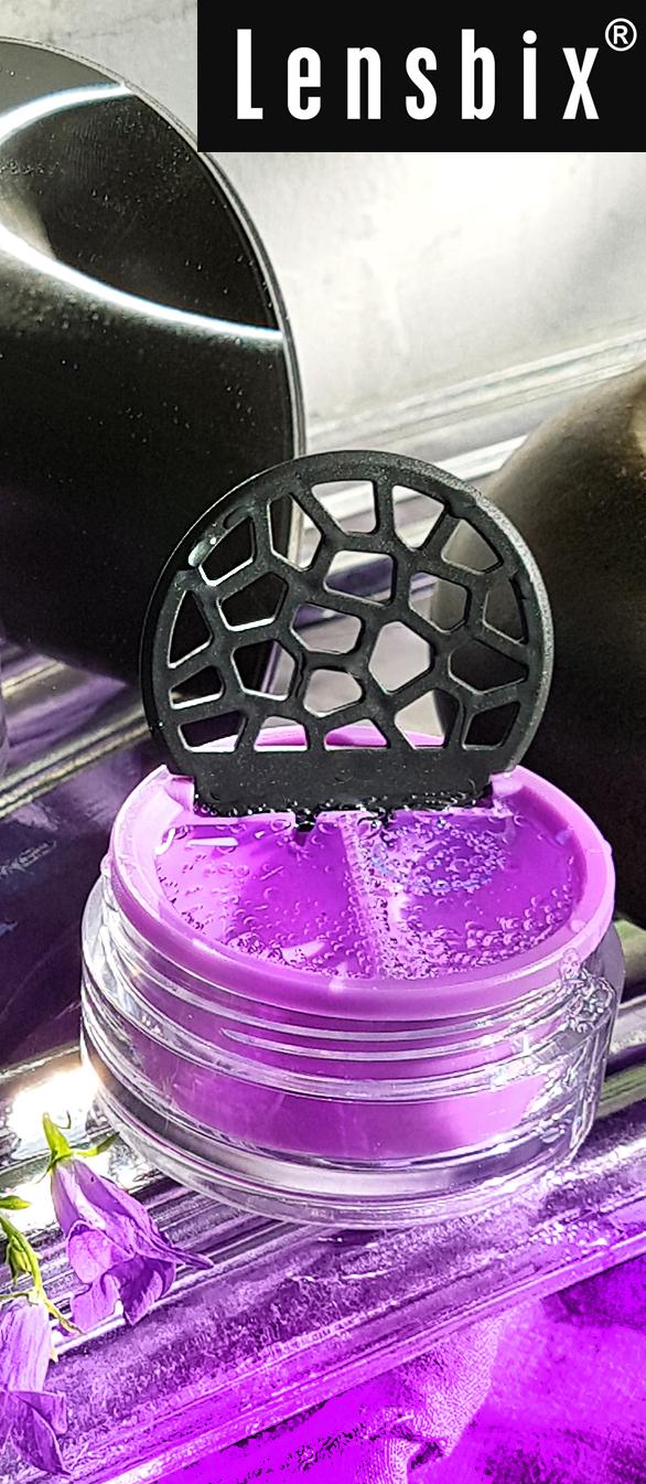 Lensbix mood - Geschenkidee in purpur / #Kontaktlinsenbehälter / #Kontaktlinsenbox / Behälter für Kontaktlinsenaufbewahrung  in Geschenkverpackung