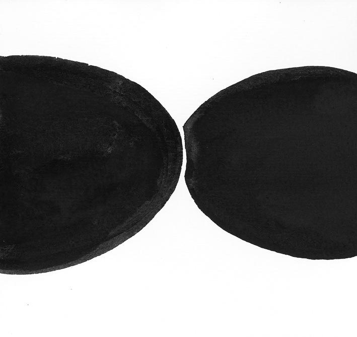 Selbstakt, Tusche auf Leinwand, 10,5 cm x 14,5 cm , 1996