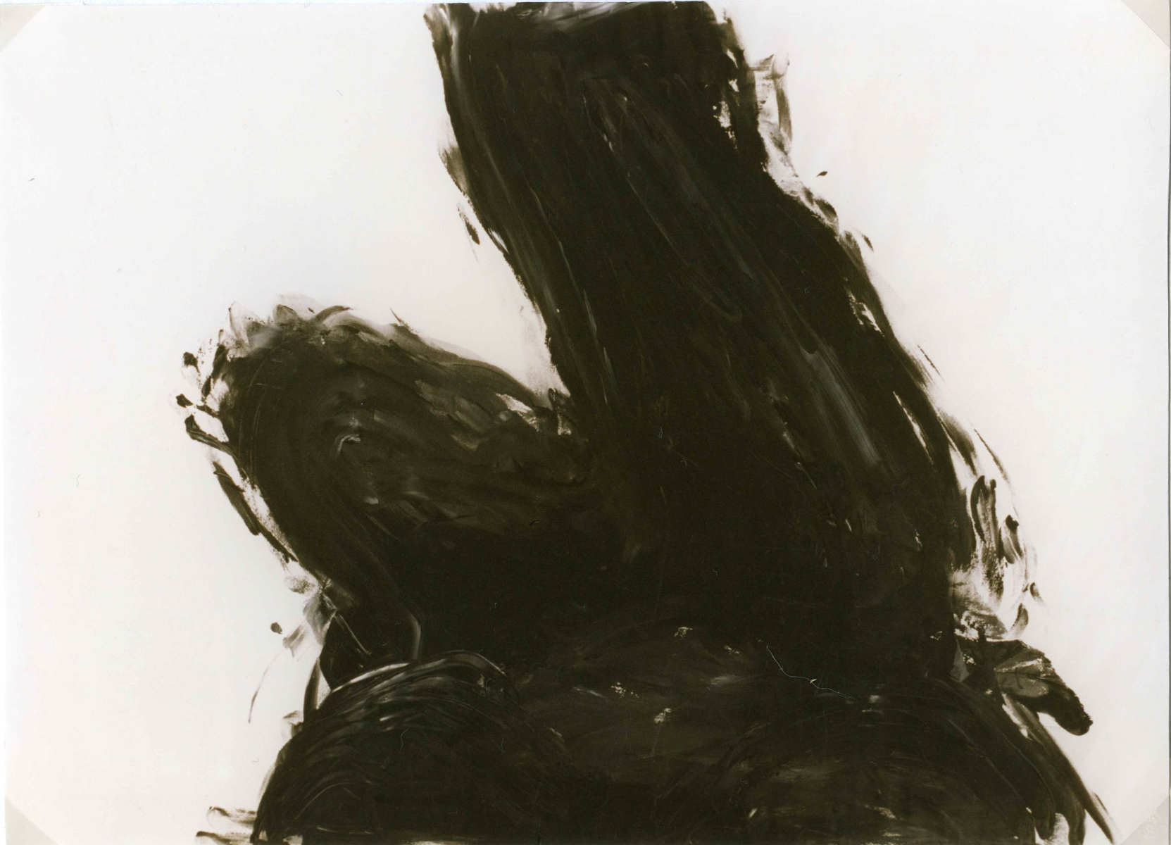 Selbstakt, Gouache auf Papier,   42 cm x 59,4 cm, 1996