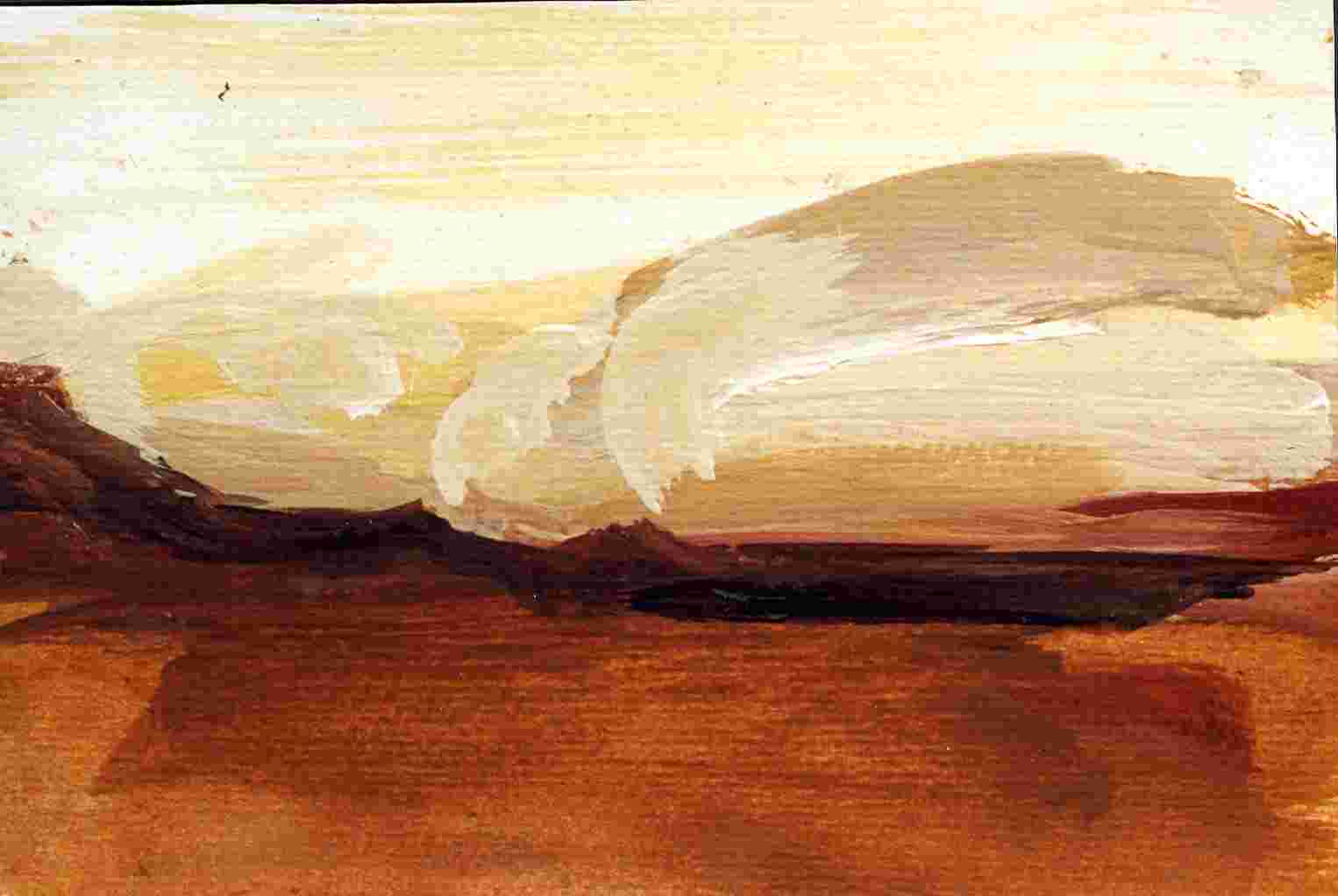 Frauenlandschaft, Öl auf Bütten, 10,5 cm x 14,5 cm , 1997