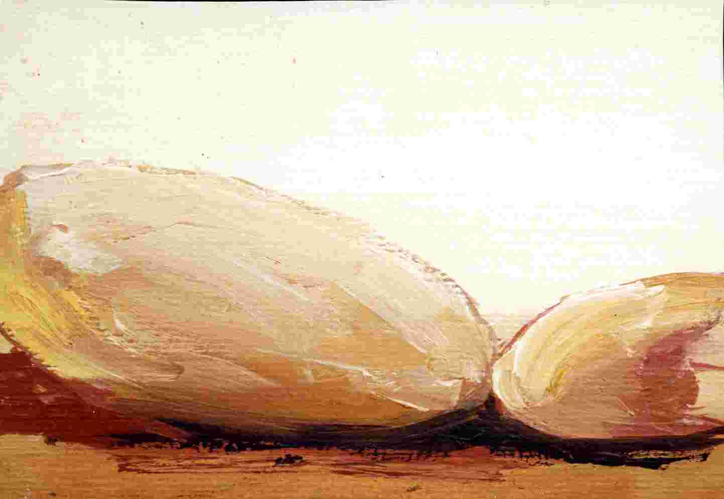 Frauenlandschaft, Öl auf Bütten, 10,5 cm x 14,5 cm , 1998