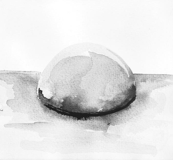 Selbstakt, lavierte Tusche auf Papier, 12 cm x12 cm   R 25cm X 25 cm,  1998