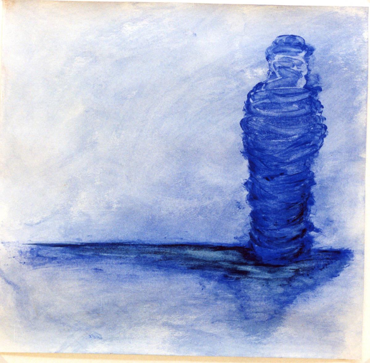 Mumie, statisch behütet, 63.5 cm x 62 cm Gouache auf Papier,1995