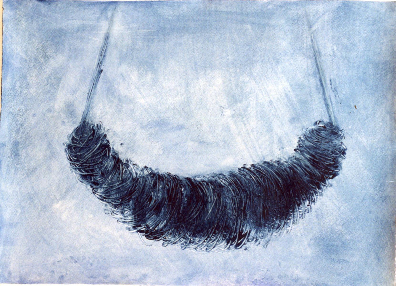 Mumie verpuppt, 62 cm x 42 cm, Gouache auf Papier, 1997