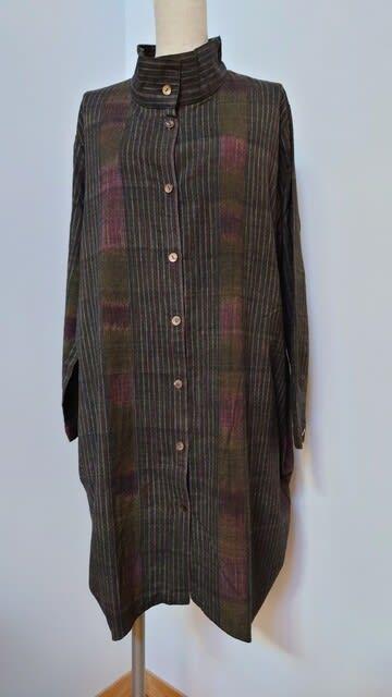 タイ 手織り木綿のコート