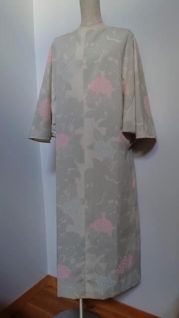 紫陽花柄の着物からドレス