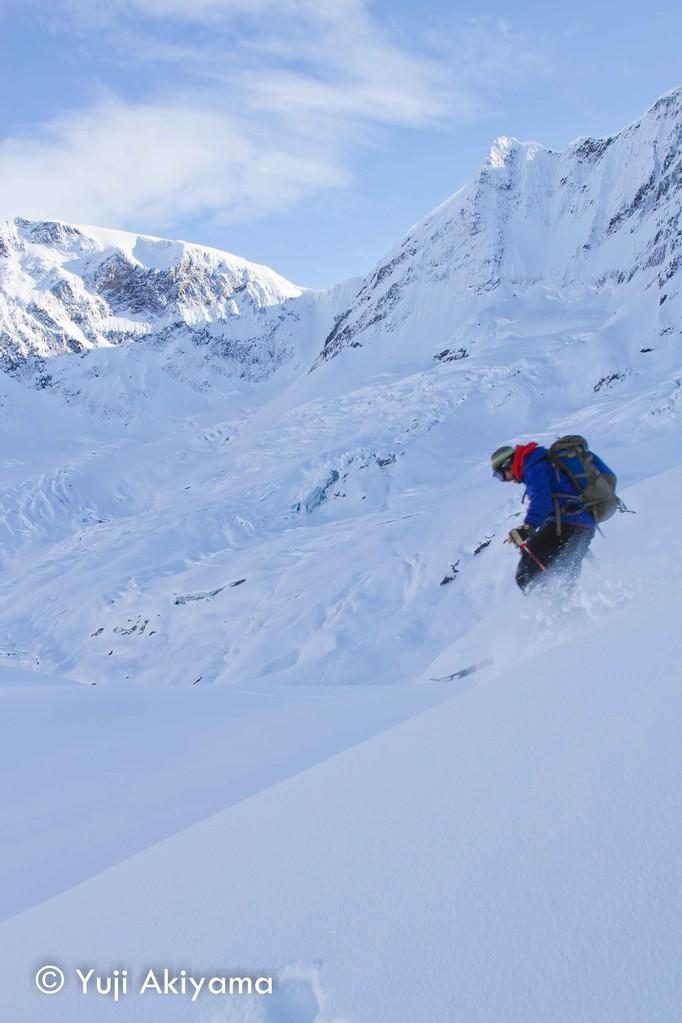 ボニー氷河でのターン