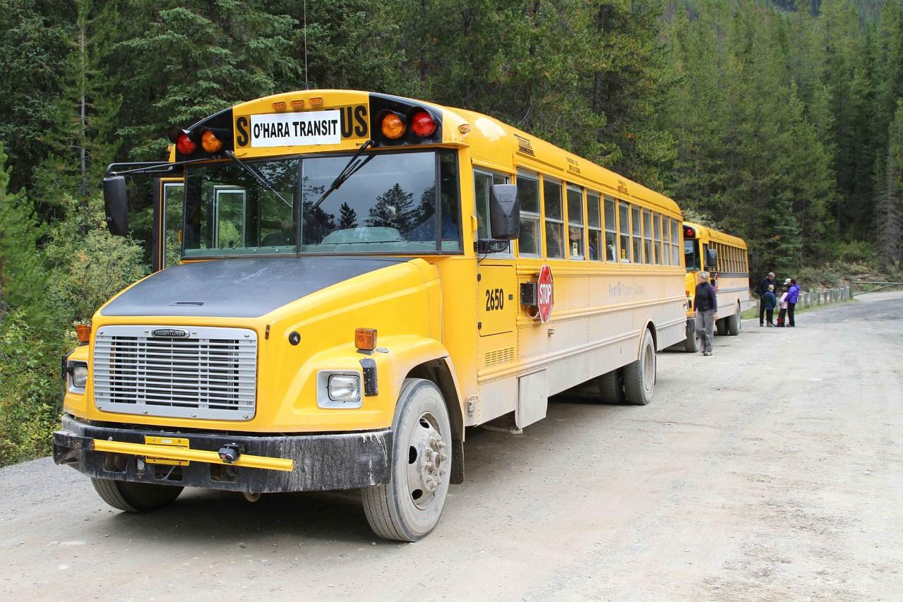 国立公園が運営するシャトルバス