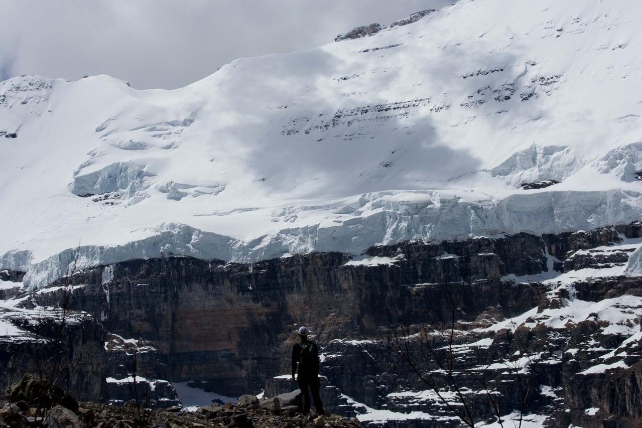 ヴィクトリア氷河が目前に、プレインオブシックスグレーシャーハイク