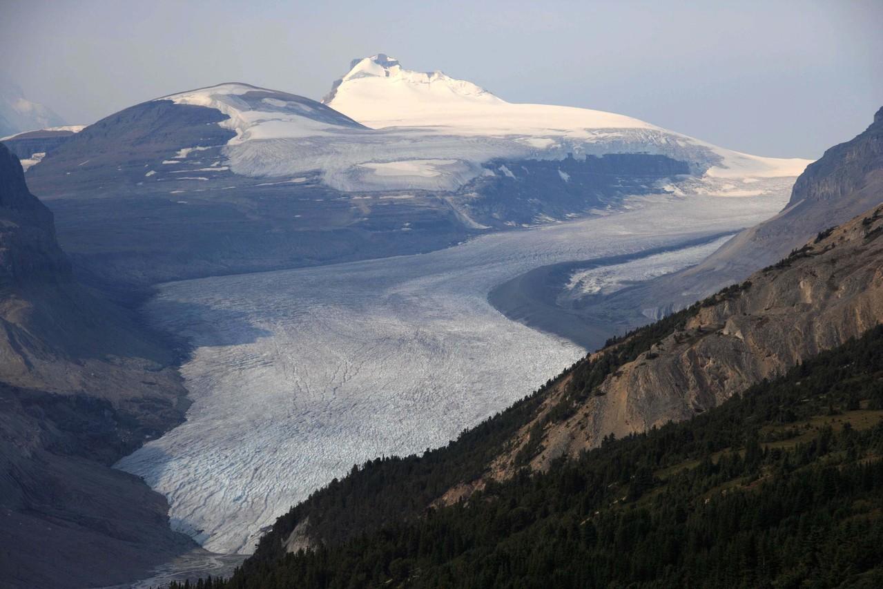 サスカチュワン氷河、パーカーリッジハイク