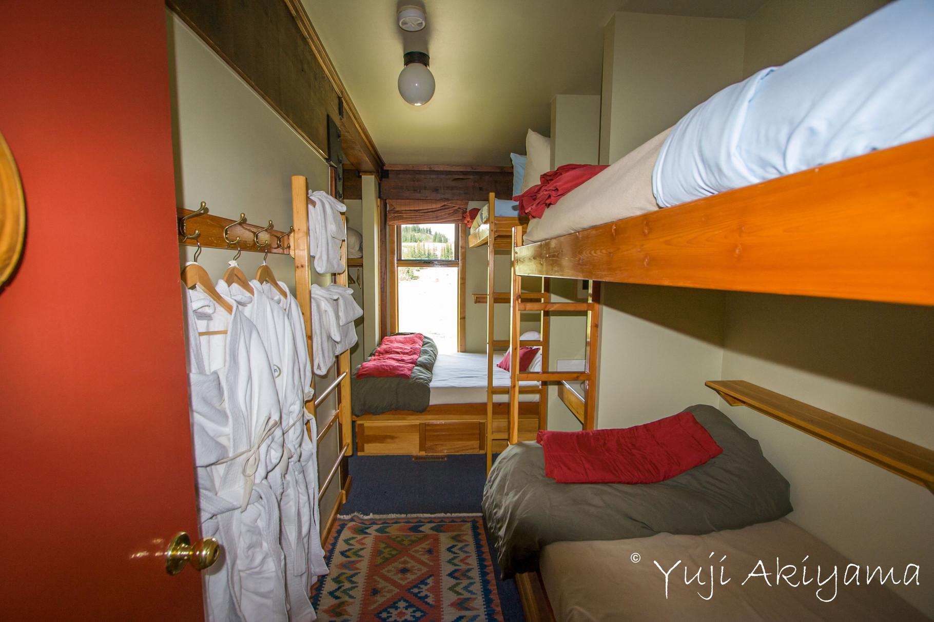 ベッドが快適な客室