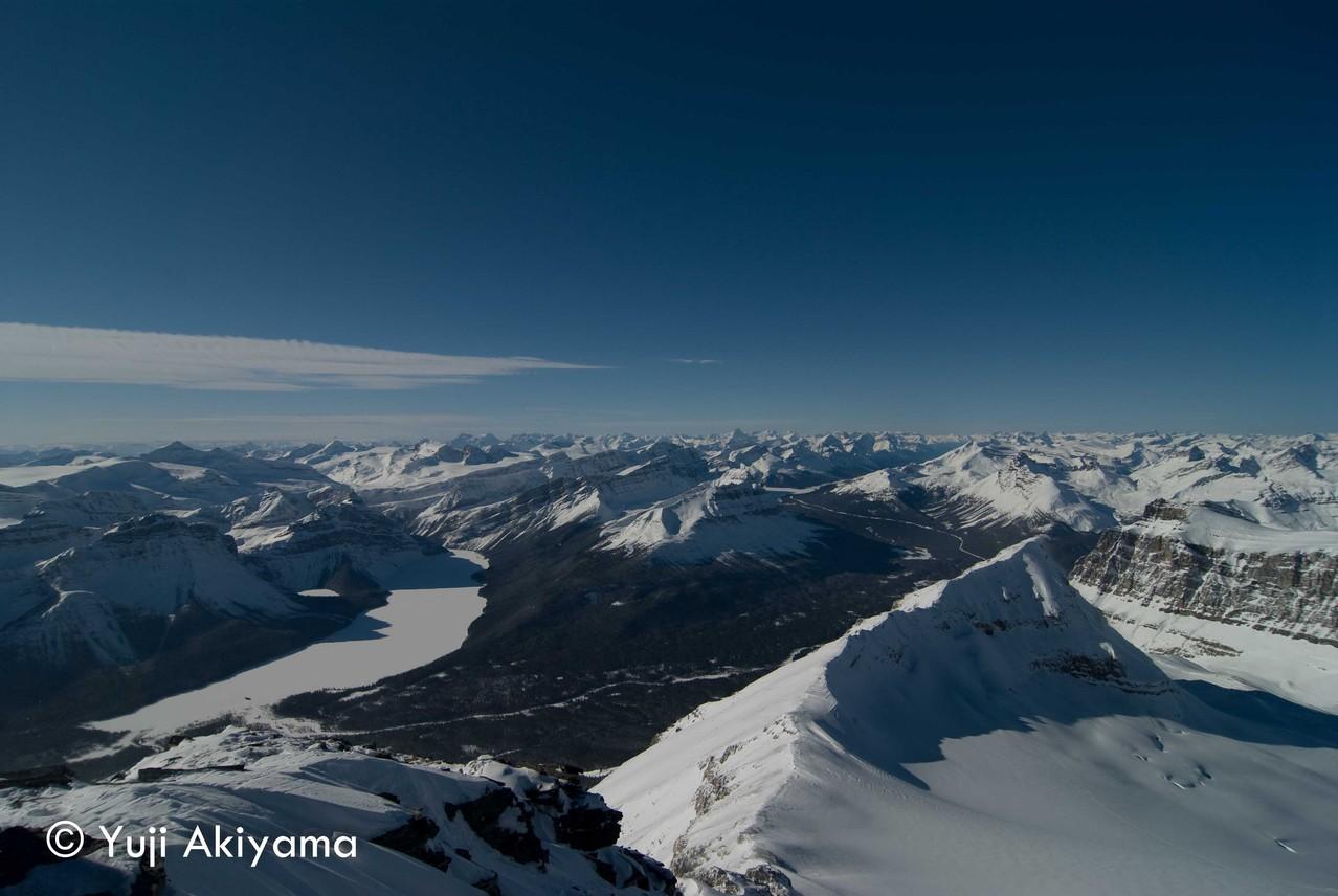 アイスフィールド・パークウェイ Mt.Hector頂上からの景色