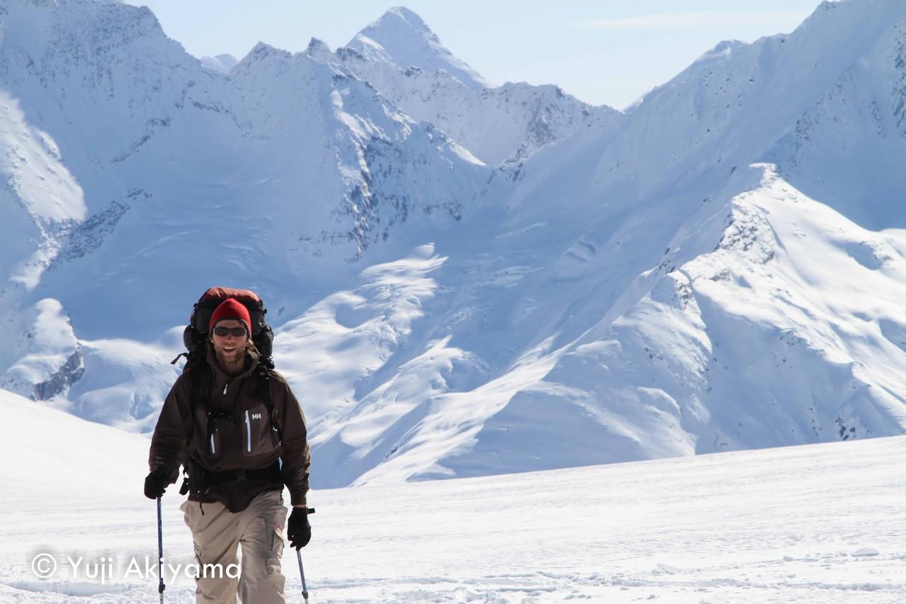 リリー氷河上で