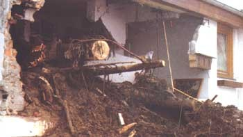 Murenabgang im Dezember 1991