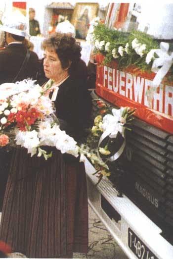 Fahrzeugweihe LF-B 1985