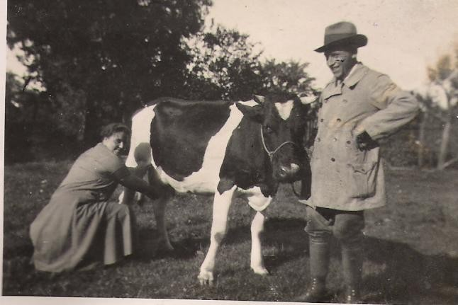 Hans Pfahl mit Frau (1938)
