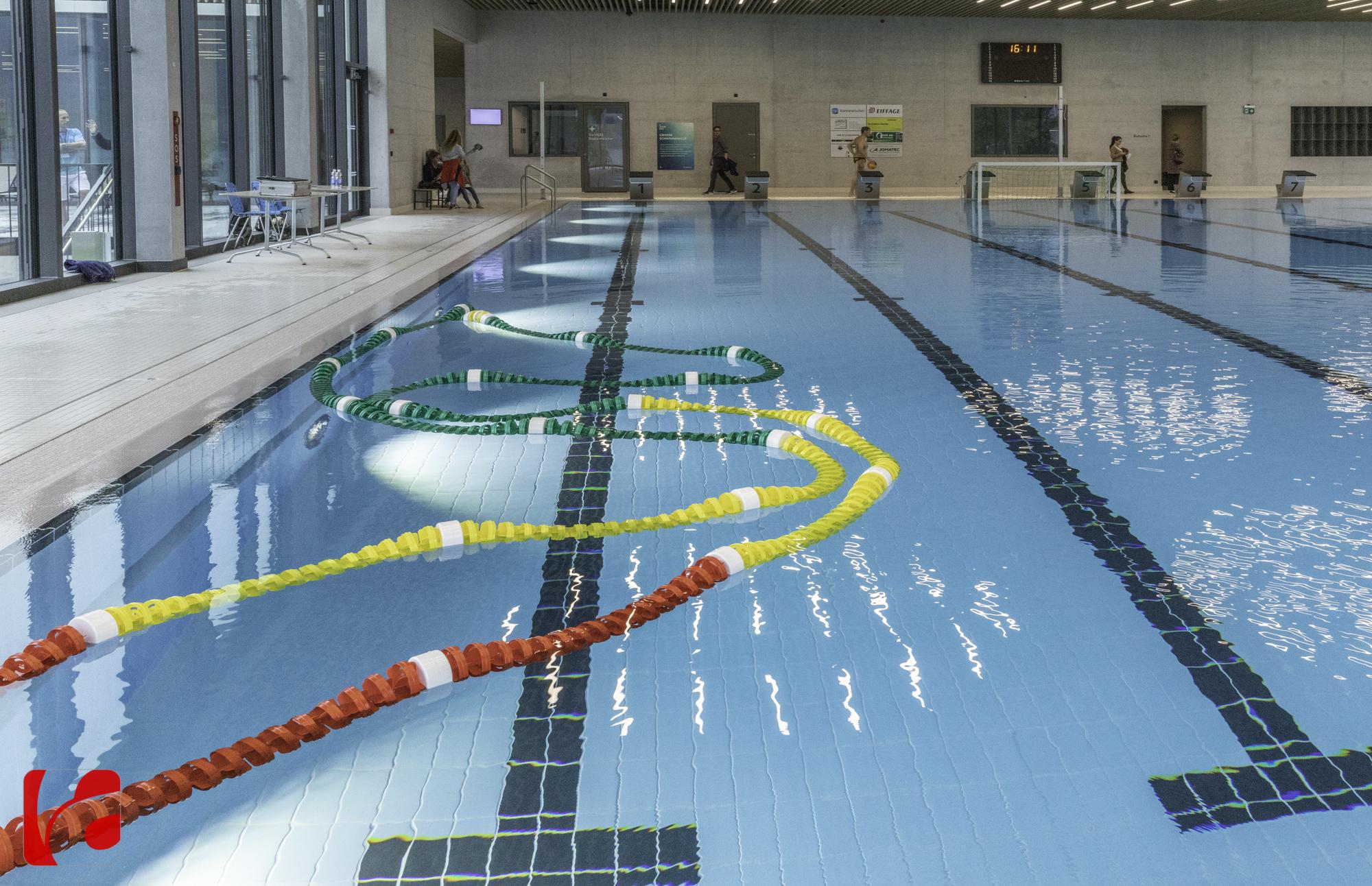Das gut genutzte Sportbecken teilen sich ambitionierte Schwimmer ebenso wie die Schwimmschule und der Wasserballverein SC Frosch Ägeri