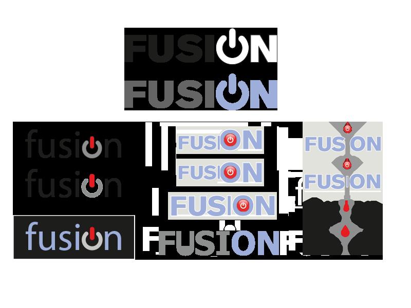 Logo-Creation für Fusion, die neue Marke für Elektrogeräte