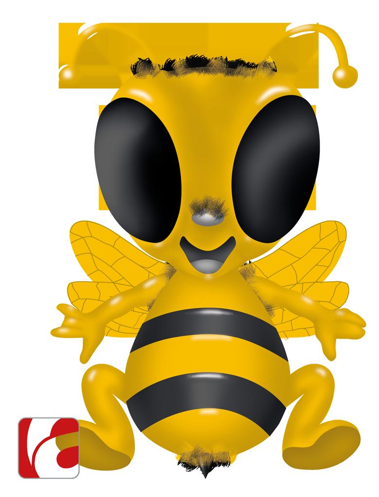 Entwurf für ein Maskottchen «Hummel» zum geplanten Talentscreen Award von Cinémemo AG, einer Tochter der Tamedia AG