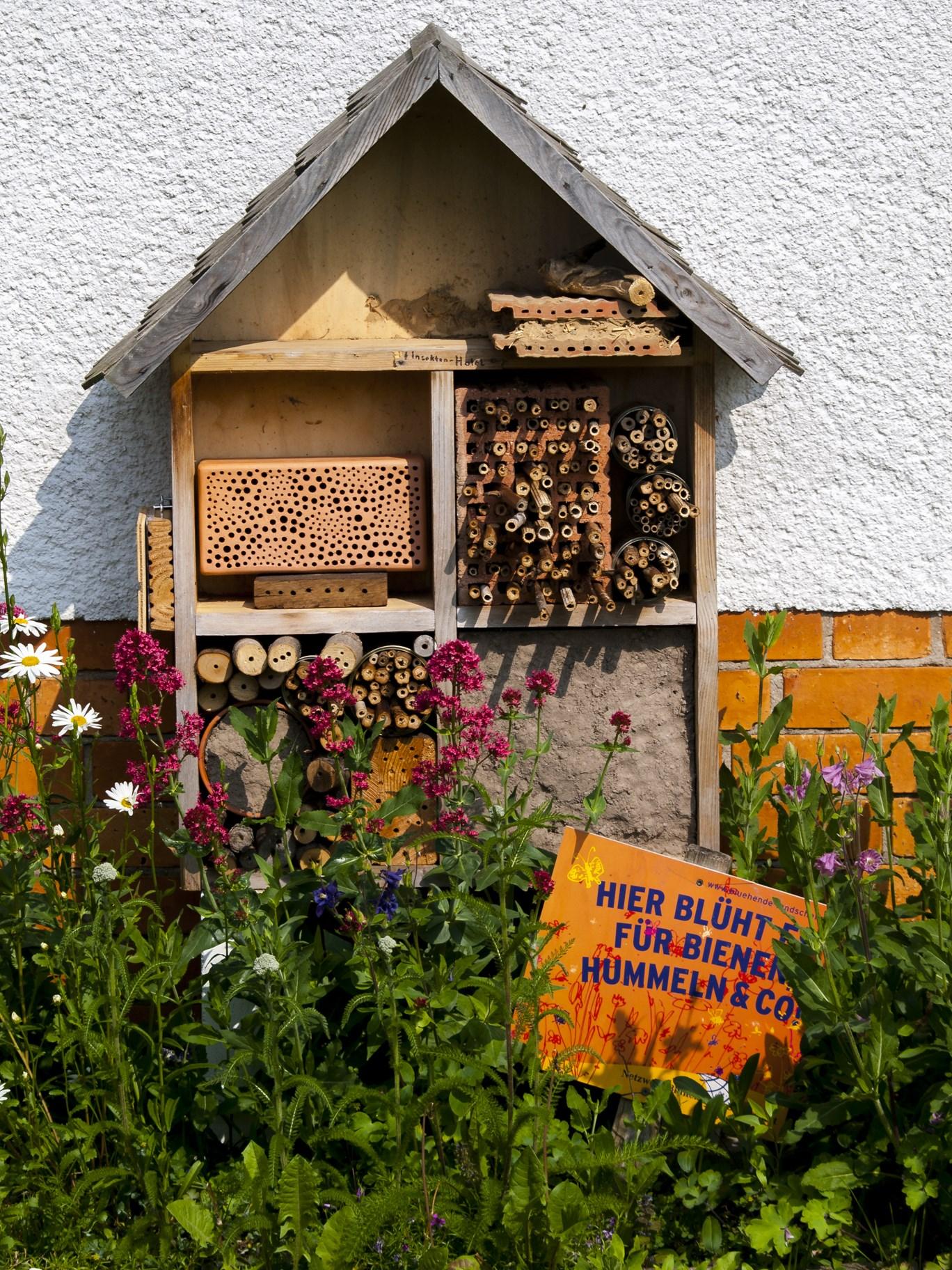 """auch ein """"Insektenhotel"""" hat seinen Platz gefunden- Foto: Kathy Büscher"""
