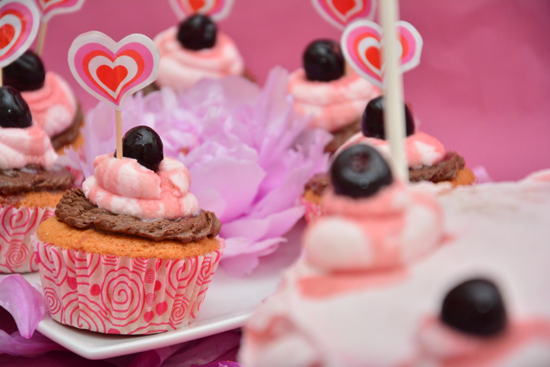 Cupcakes amarene fragole e cioccolato