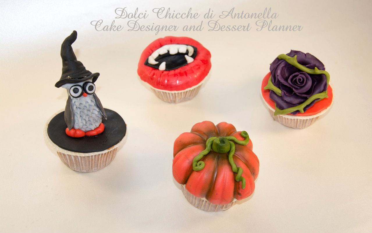 Cupcakes oggetto del corso adulti per Halloween