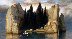 """""""L'île des morts"""" de Böcklin, héritage de mon grand-père et unique élément de décoration de l'atelier."""" (p.14)"""