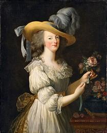 """""""Marie-Antoinette fait scandale en apparaissant ainsi vêtue dans un tableau d'Elisabeth Vigée-Lebrun."""" (p.105)"""