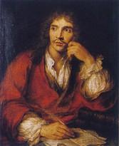 """""""Portrait de Molière"""" par Charles Antoine Coypel (1730)"""
