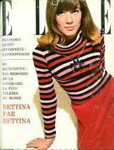 """Le 13 décembre 1963, le magazine Elle met à la """"une"""" Françoise Hardy, âgée de 19 ans, vêtue d'un petit pull Rykiel : """"Le succès est foudroyant."""" (p.94)"""