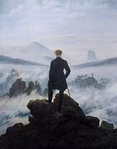 """""""Voyageur contemplant une mer de nuages"""" de Caspar David Friedrich (""""Ce tableau me fascine."""" p.139)"""