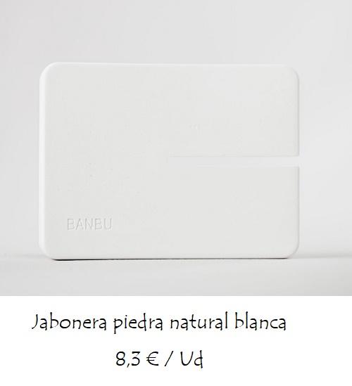Jabonera piedra natural blanca mediana