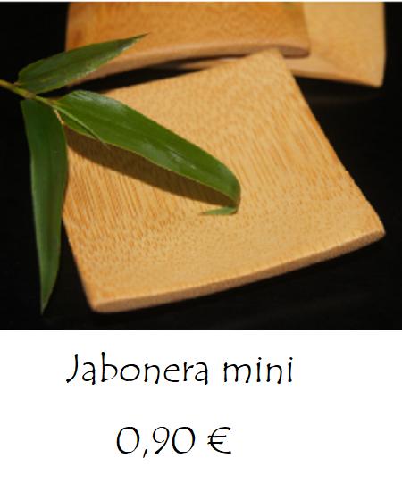 Jabonera mini bambú
