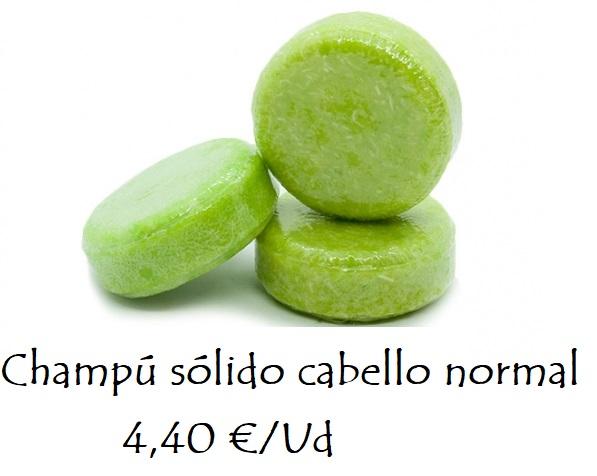 Champú sólido cabello normal 4,40 €