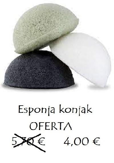 Oferta esponja exfoliante Konjac 4,00 €