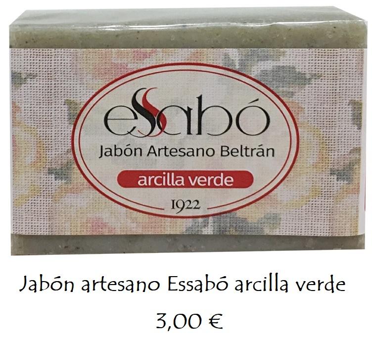 Jabón natural arcilla verde
