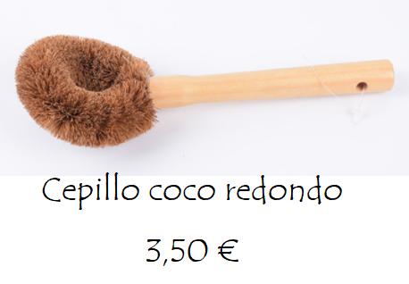 Cepillo raspador cocina coco redondo