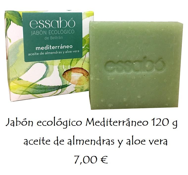 Jabón ecológico aceite de almendras y aloe vera