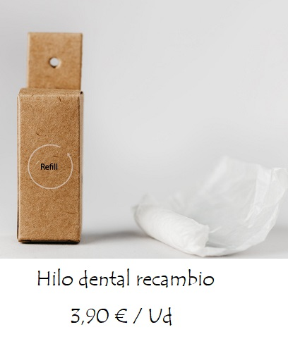 Recambio hilo dental packaging 100% biodegradable