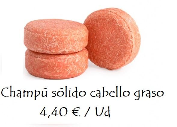 Champú sólido cabello graso 4,40 €