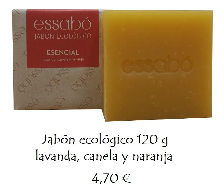 Jabón esencial canela, naranja, lavanda