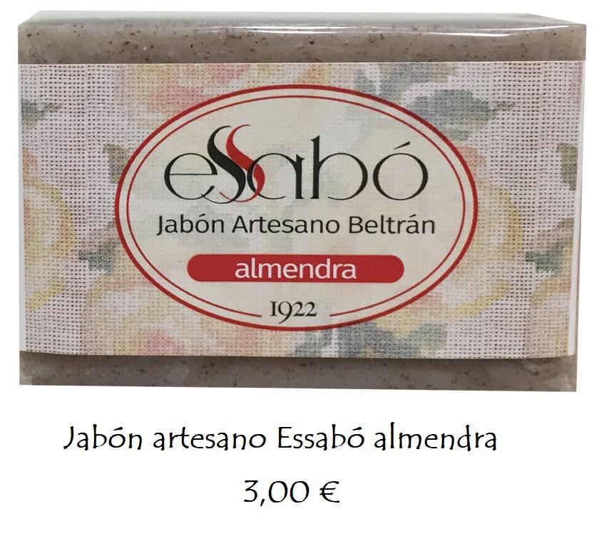 Jabón natural exfoliante almendra