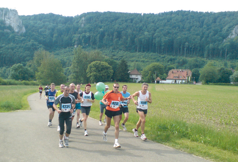 immer öfter als Pacer unterwegs, hier beim Donautal-Marathon