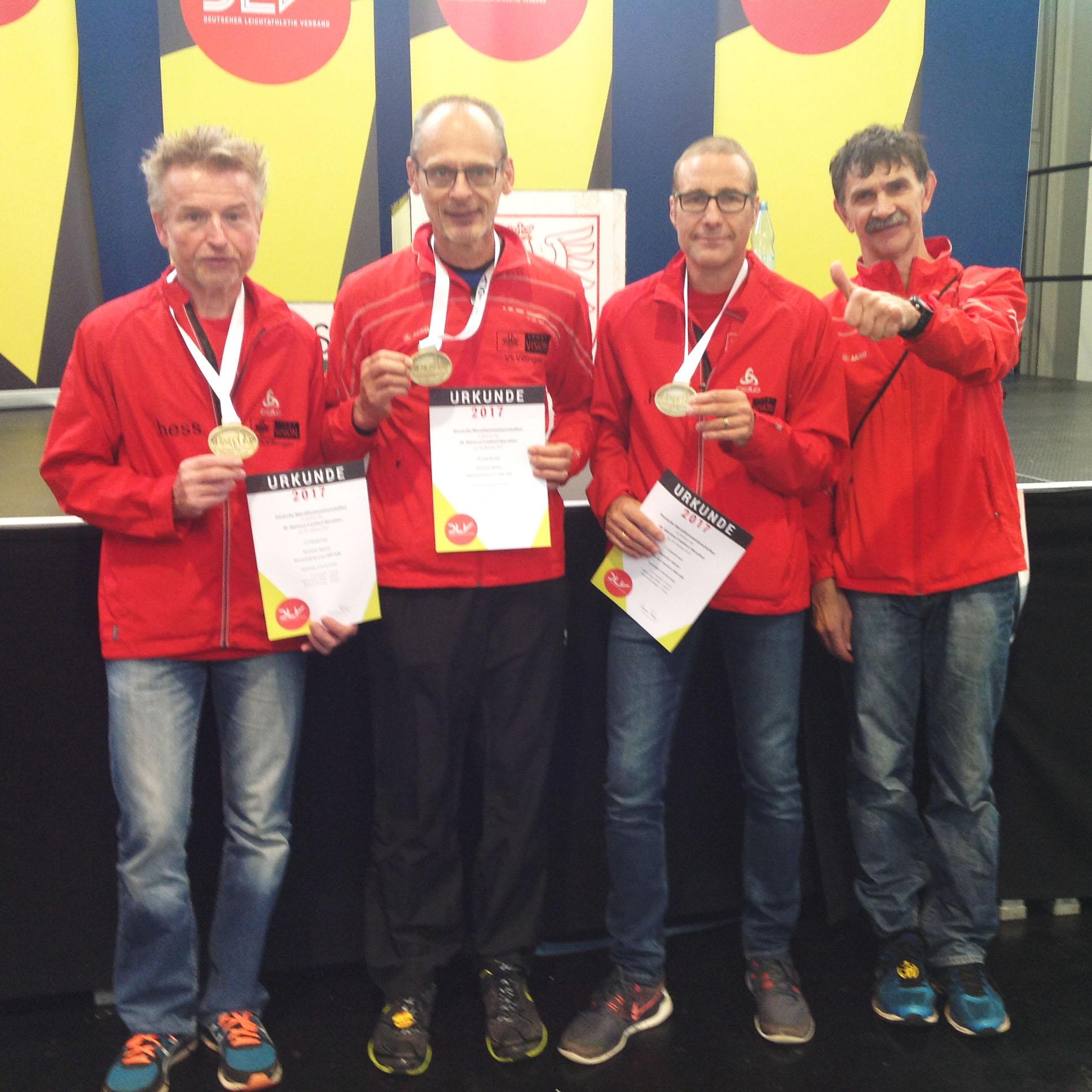 Deutscher Marathon Meister Team M60 2017 mit Landesrekord (Frankfurt)