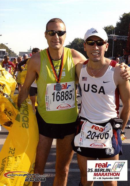 Berlin Marathon 2008 mit Francisco (2. Platz M50)