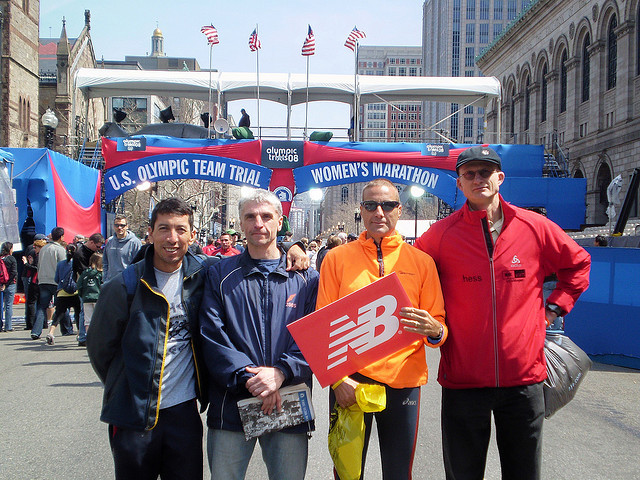 Vor dem Boston Marathon 2008